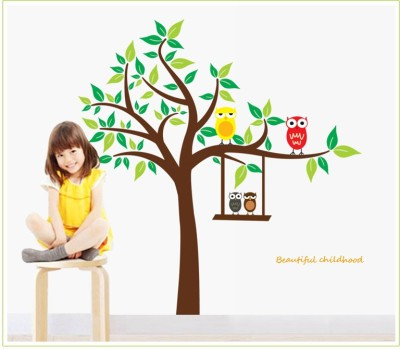Oren Empower Owl and tree large wall sticker