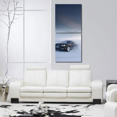 999 Store Multiple Frames Printed Cars like Modern Wall Art Painting -2 Frames (76x25 cm))