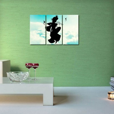 999 Store Multiple Frames Printed Krishna with his Flute like Modern Wall Art Painting