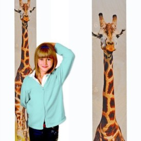 Growth Chart Art Giraffe Growth Chart, Giraffe Wooden Height Chart(Multicolor)