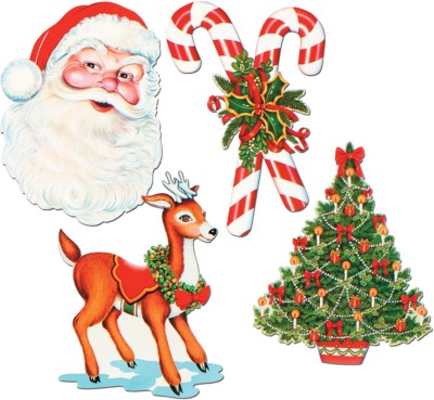 Beistle Christmas Cutouts 16 inch