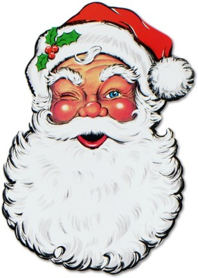 Beistle Santa Face Cutout