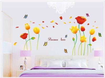 Oren Empower Beautiful Love Flower with Butterflies large wall sticker