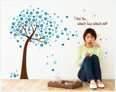 Oren Empower Large Skyblue Tree decorative large wall sticker