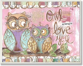 The Kids Room by Stupell Owl Always Love You Pastel Rectangle Wall Plaque(Pink)