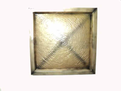 Soi Emobossed Metal Wall DéCor-Golden
