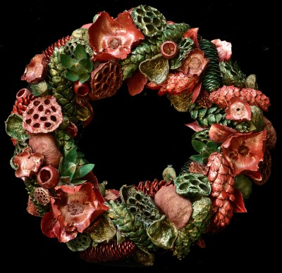 Exotic Creations Meta-Grassy - Dried flower wreath
