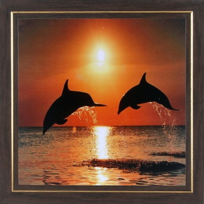 WENS Dolphin In Evening Wall Art