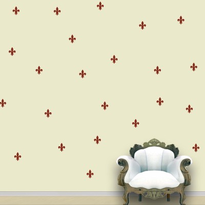 WallDesign Royal Wall Pattern Brown Stickers Set of 55