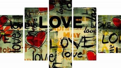 GoHooked Graffiti Love wall Art