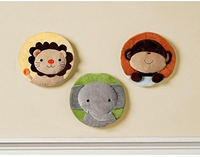 Kidsline Baby Wall Hangings Velour Noahs Ark Pals(Multicolor)
