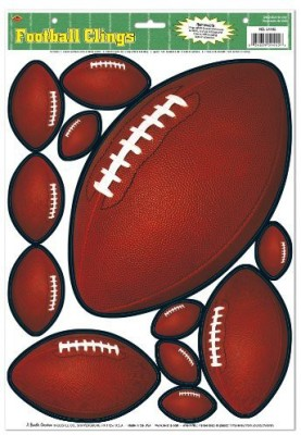 Beistle Clings Per Sheet Football Clings For Parties