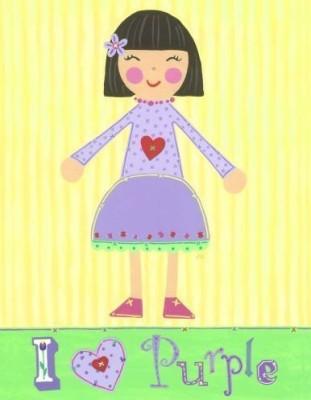 Little Acorn I Love Purple Girl