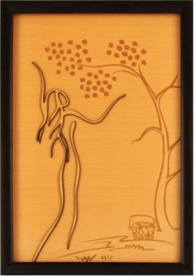 Bion Creations Wooden Carved Painting Summer Vacation