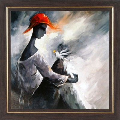 WENS Lady With Bird Wall Art