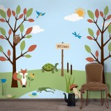Forest Theme Wall Stencil Kit for Forest...
