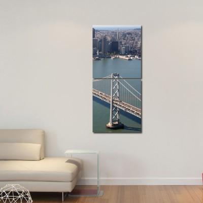 999 Store Multiple Frames Printed Bridge Modern Wall Art Painting -2 Frames (76x25 cm)