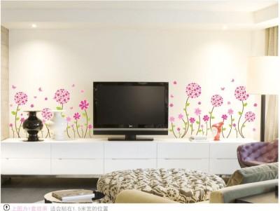 Oren Empower Charming pink flower large wall sticker