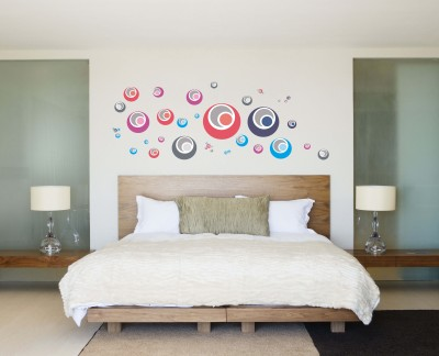 Oren Empower Colored circle large wall sticker