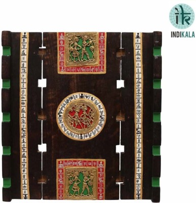 NG Art Ventura Exquiste Dhokra and Warli Work Wall Décor(13 inch X inch 12, Multicoloured)
