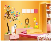 Oren Empower Jungle Safari large wall sticker(90 cm X cm 120, Multicolor)