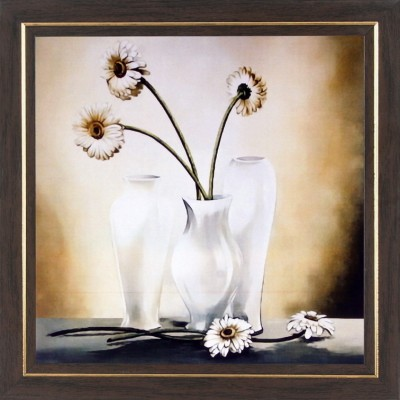 WENS White Flower Relaxing Painting