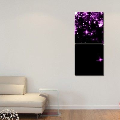999 Store Multiple Frames Printed Star in the Sky Wall Art Painting -2 Frames (76x25 cm)