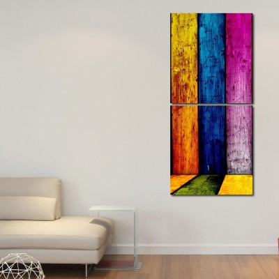999 Store Multiple Frames Printed Different colors Walls Wall Art Painting -2 Frames (76x25 cm)