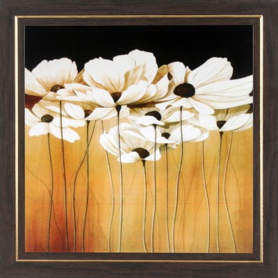 WENS White Flower Wall Art