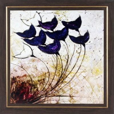 WENS Blue Flowers In Air Wall Art