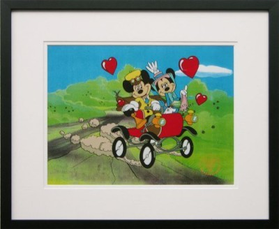 Walt Disney Limited Edition Animation Cel Nifty Nineties Mickey Mouse and Minney Mouse