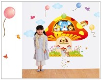 Oren Empower 2pc/set (Double Sheet) Extra Large Cartoon wall sticker(120 cm X cm 180, Multicolor)