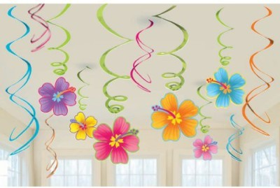 Amscan Luau Swirl Hanging Decorations(Multicolor)