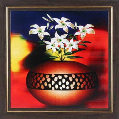 WENS White Flower With Pot Wall Painting