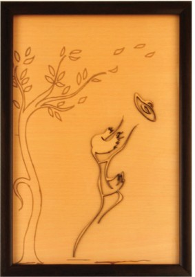 Bion Creations Wooden Carved Painting Facing The Storm