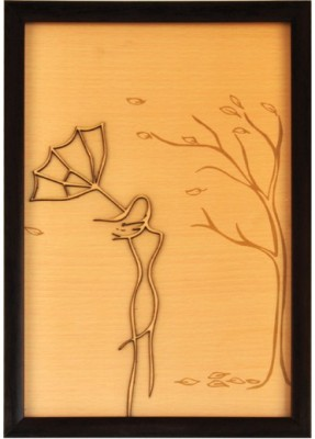 Bion Creations Wooden Carved Painting Heavy Wind
