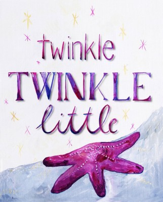 CiCi Art Factory Twinkle Little Star Wall Decor, Lilac,