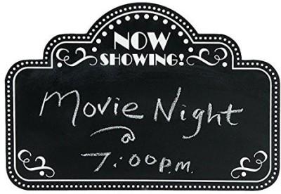 OTC Movie Night Marquee Chalkboard Wall Decor