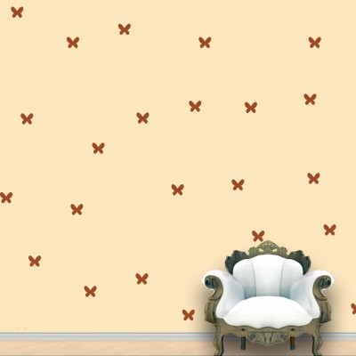 WallDesign Butterfly Wall Pattern Brown Light Stickers Set of 75