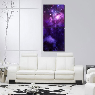 999 Store Multiple Frames Printed Star in The Sky like Modern Wall Art Painting -2 Frames (76x25 cm)