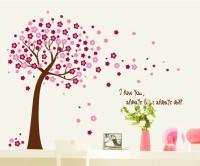 Oren Empower Peach Tree decorative large wall sticker(120 cm X cm 150, Peach)
