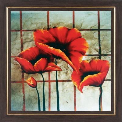 WENS Orange Flower Wall Art