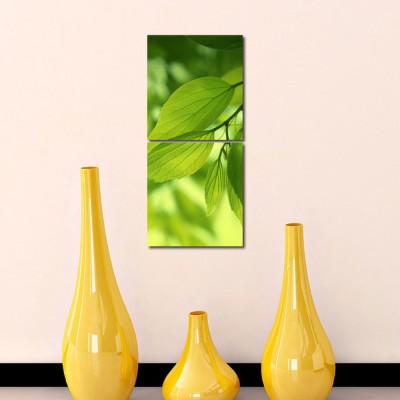 999 Store Multiple Frames Printed Leafs Wall Art Painting -2 Frames (76x25 cm)