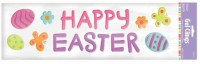 Amscan Happy Easter Gel Clings Party Accessory(Multicolor)
