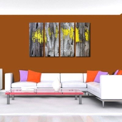 999 Store Multiple Frames Printed Wooden Wall like Modern Wall Art Painting - 4 Frames (127x76 Cm)