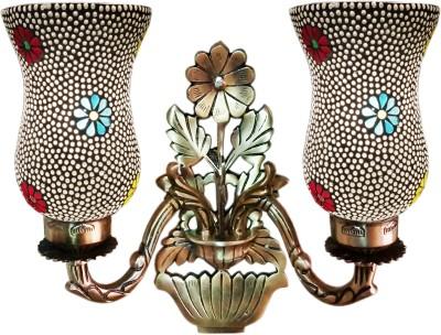 Weldecor Antiqua Brasso Magical Floral Night Lamp