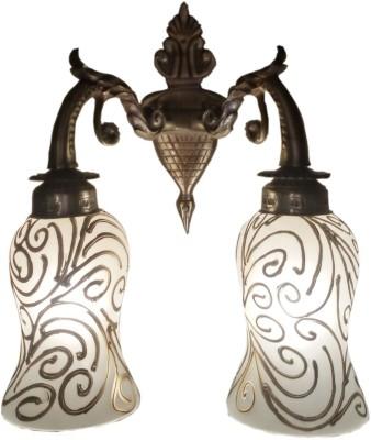 Weldecor Antiqua Brasso Double Glass Magical Dots Night Lamp