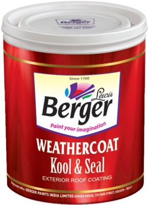 Berger WeatherCoat Kool and Seal White Emulsion Wall Paint(4 L)