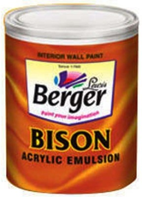 Berger BBA-WH-1L White Emulsion Wall Paint(1 L)