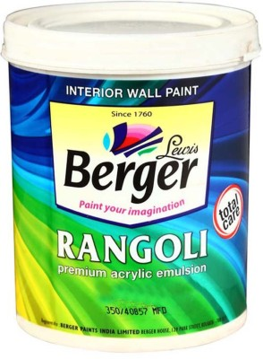 Berger BR-WH-1L White Emulsion Wall Paint(1 L)